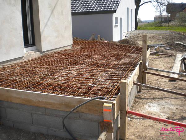 terrasse beton empreinte bois