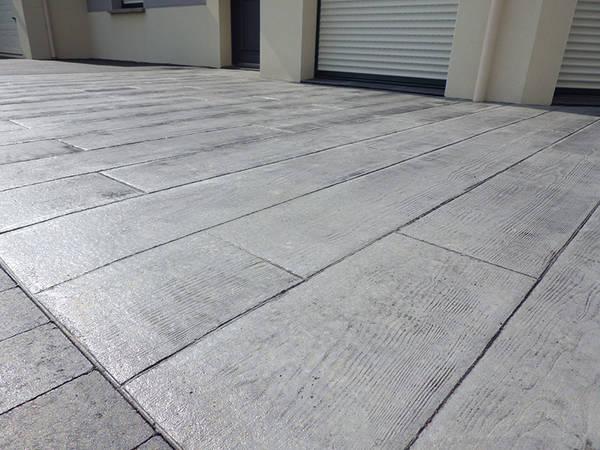 terrasse surélevée en beton