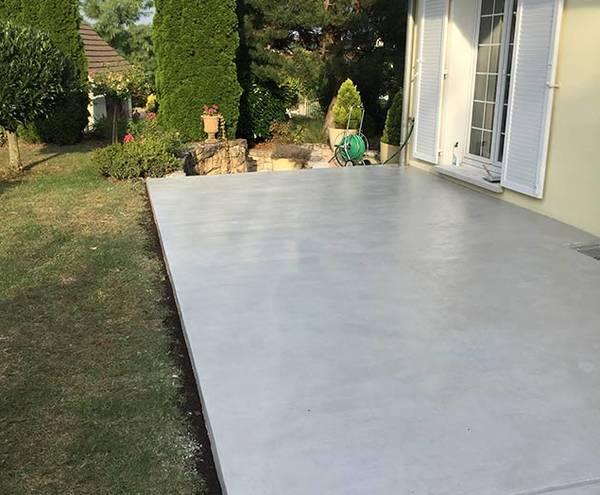 dalle beton terrasse