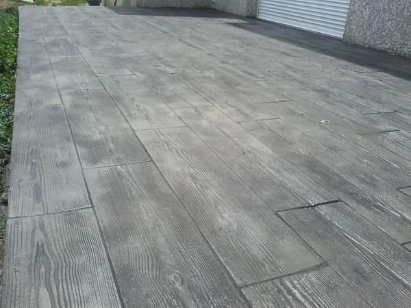 coulage beton terrasse extérieure