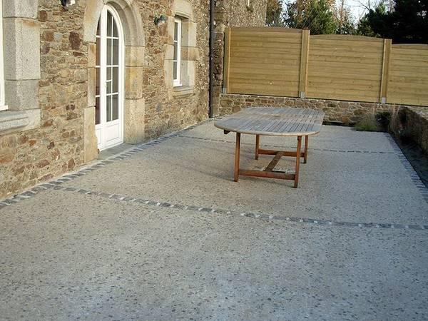 comment faire une terrasse en beton
