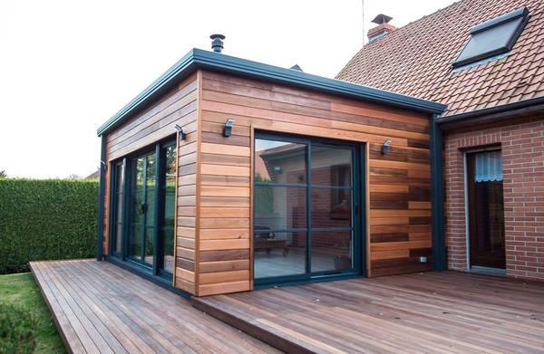 extension bois sur maison ancienne